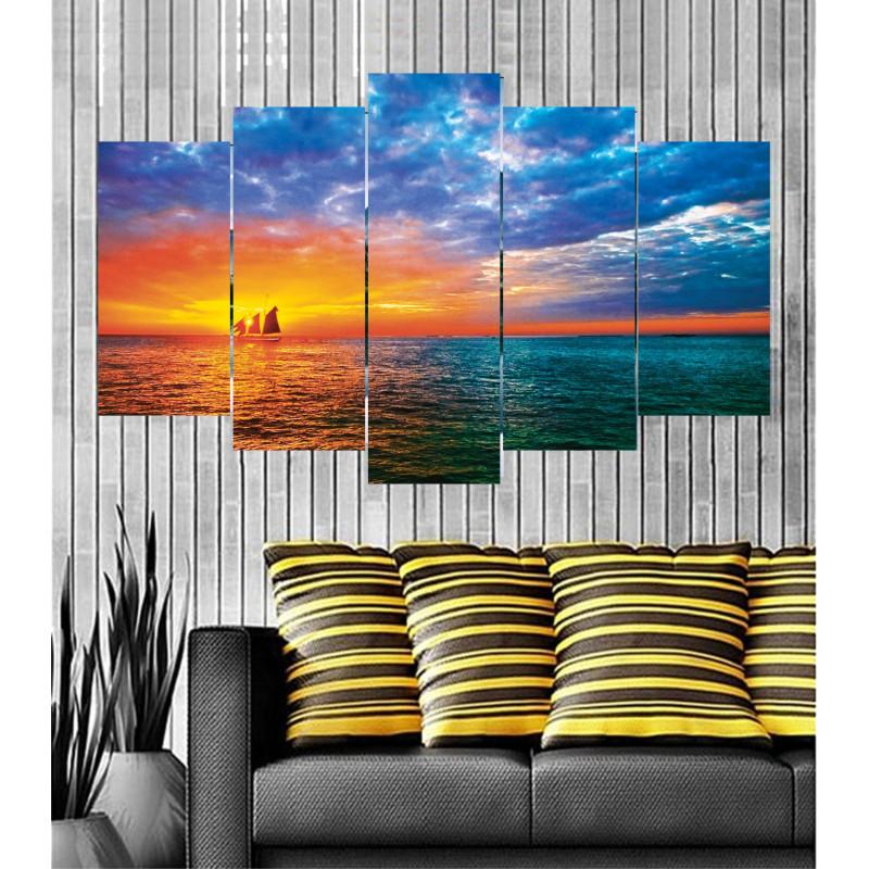 Wall Frames 5 Pieces Set Canvas - Digitally Printed Wall Canvas  post-98