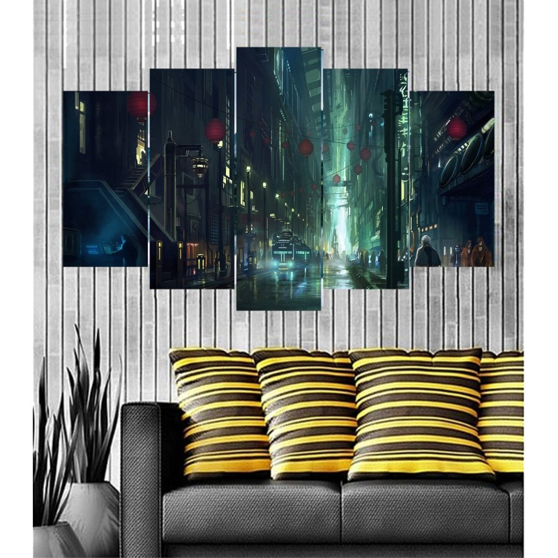 Wall Frames 5 Pieces Set Canvas - Digitally Printed Wall Canvas  post-99