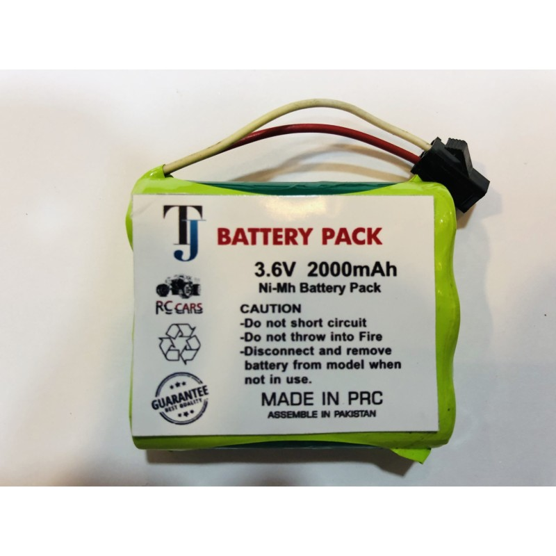 3.6V 2000mAh Car Toy Battery with 1 Year Warranty