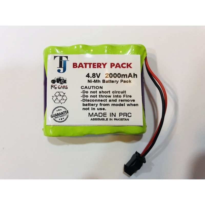 4.8V 2000mAh Car Toy Battery with 1 Year Warranty
