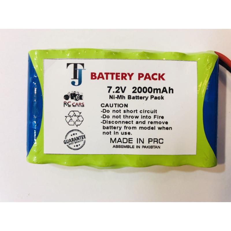 7.2V 2000mAh Car Toy Battery with 1 Year Warranty