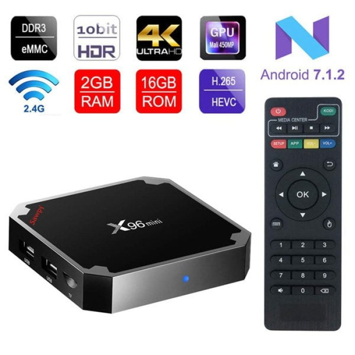 Android Smart TV Box X96 Mini Quad Core 2g+16g Version 7.1.2