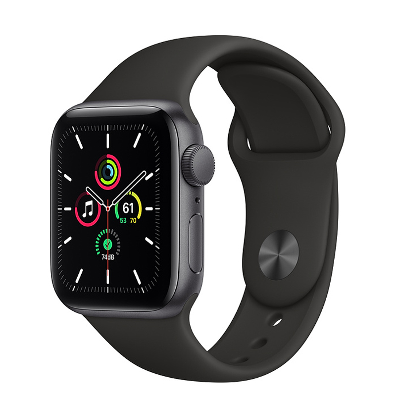 Apple Watch SE Space Gray Aluminum Case with Sport Band (GPS) with One Year Warranty