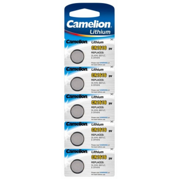 Camelion 3V Lithium Battery CR1616 (Pack of 5)