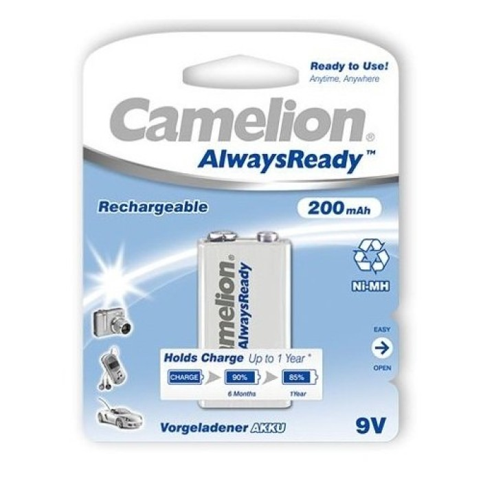 Camelion 9V 200mAh Rechargeable Battery