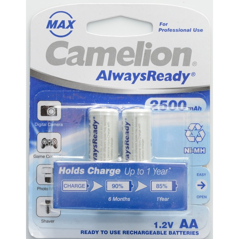 Camelion AA 2500mAh Rechargeable Battery (Pack of 2)