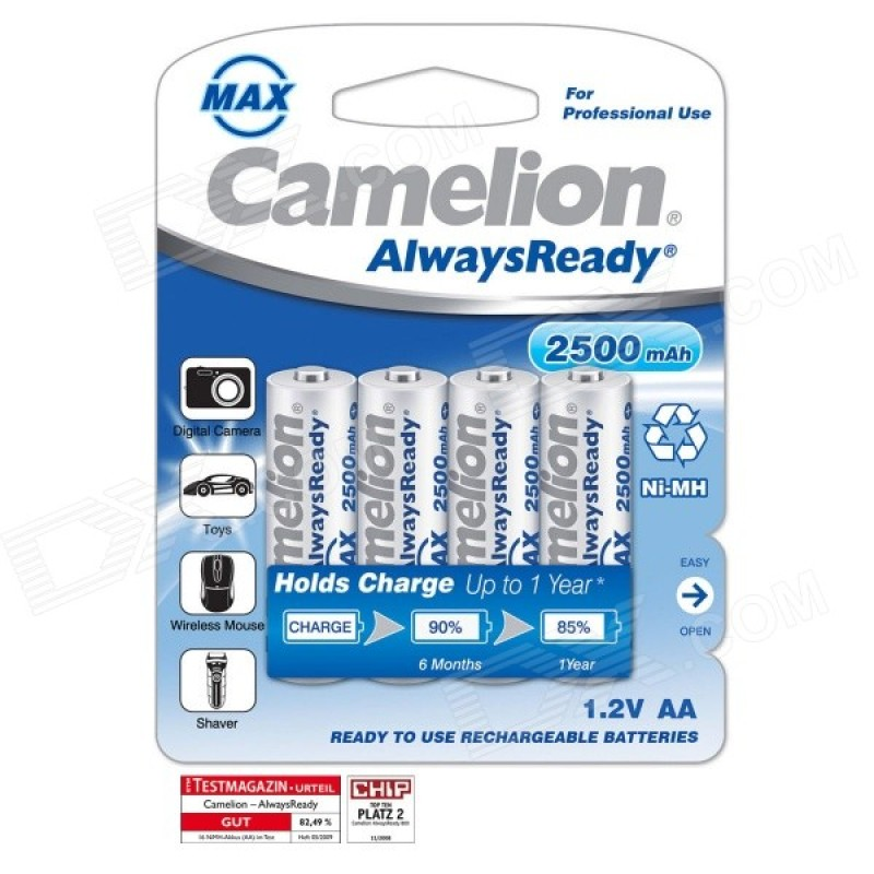 Camelion AA 2500mAh Rechargeable Battery (Pack of 4)