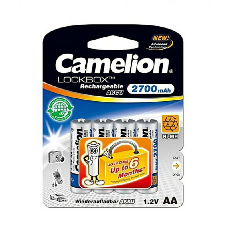 Camelion AA 2700mAh LockBox Rechargeable (Pack of 4)