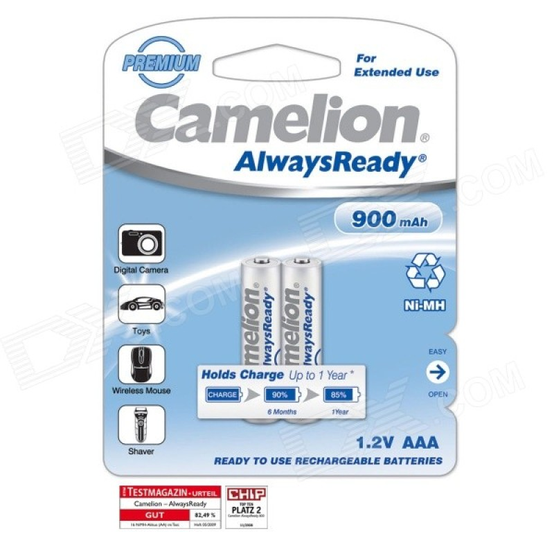 Camelion AAA 900mAh Rechargeable Battery (Pack of 2)