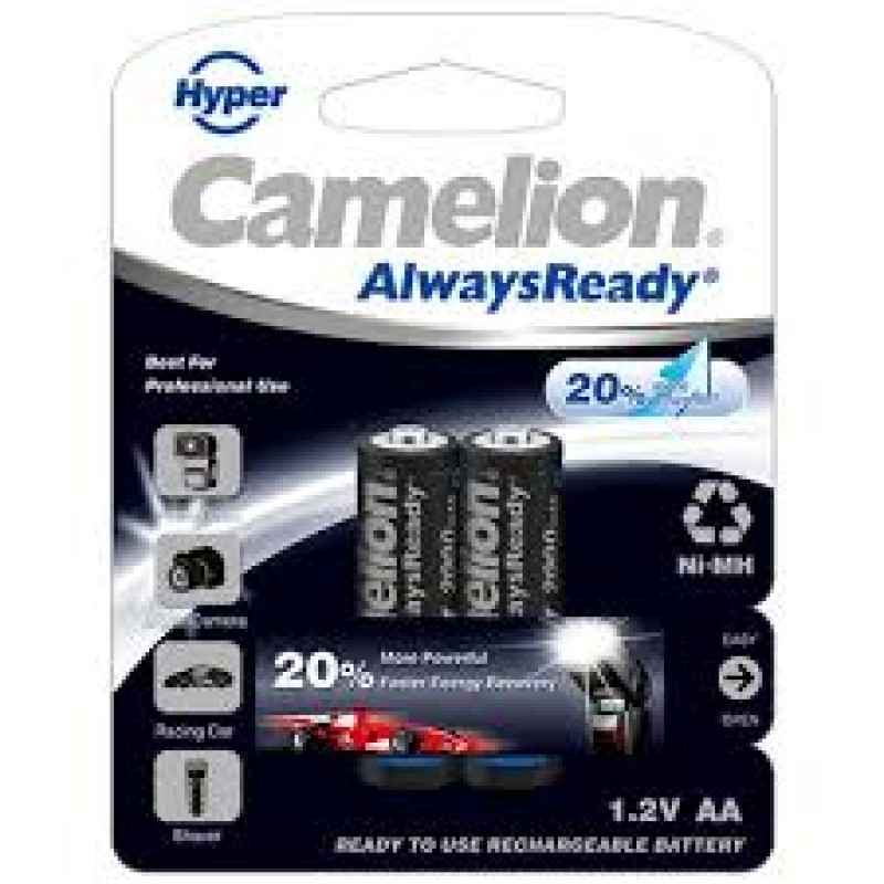 Camelion AlwaysReady AA 2000 mAh Rechargeable Battery (Pack of 2)
