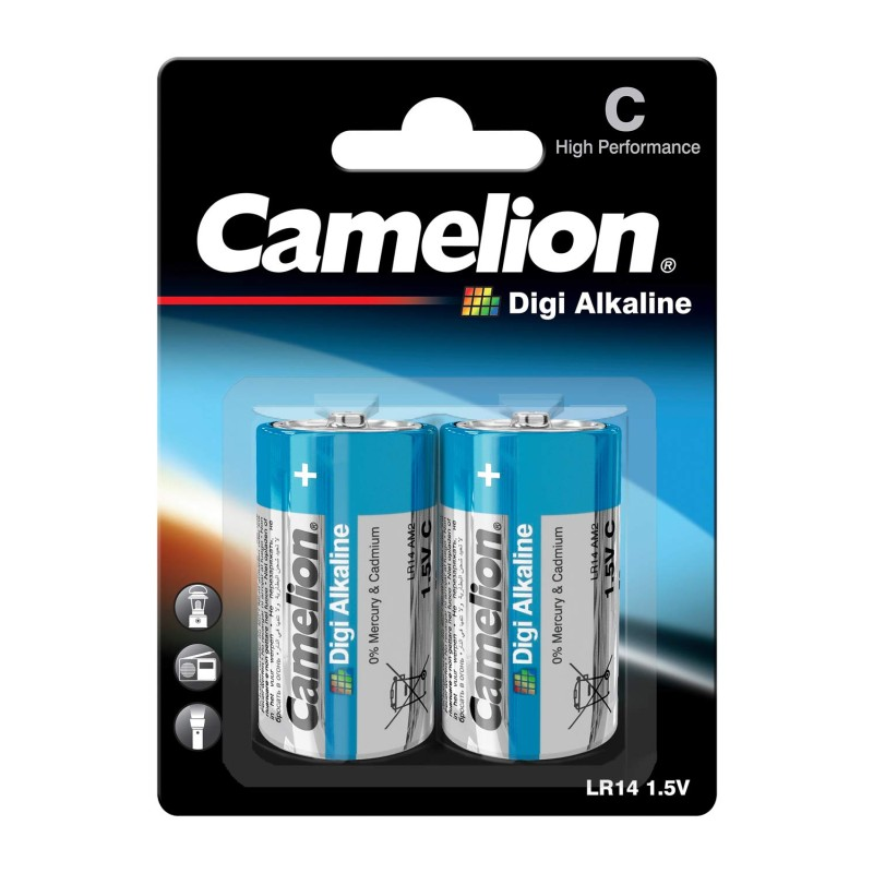 Camelion C Size Digi Alkaline Battery (Pack of 2)