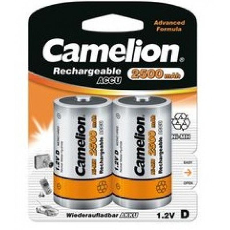 Camelion D Size Rechargeable Batteries 2500mAh (Pack of 2)