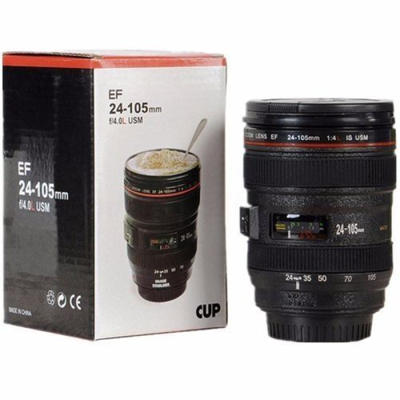 Caniam Camera EF 24-105mm f/4.0L USM Stainless Steel Mug Interior Hot Cold Coffee Tea Travel Mug Lens Cup