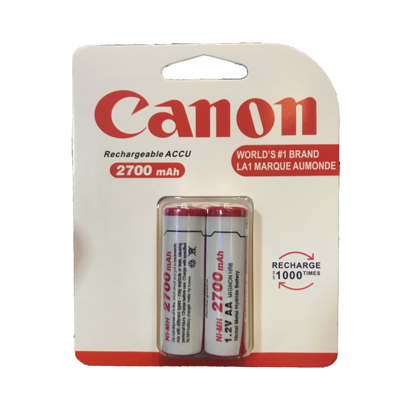 Canon 2700 mAh AA Rechargeabale Pack Of 2