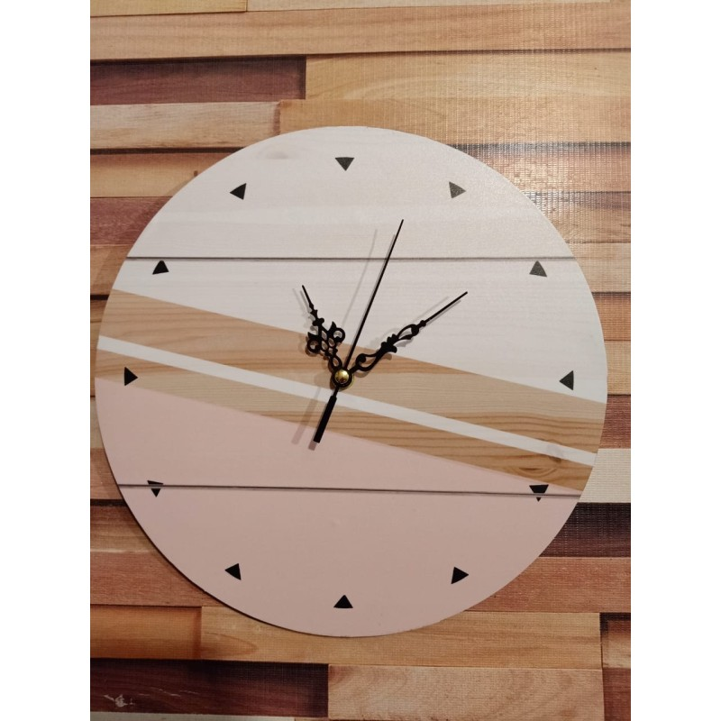 Colorful Wooden Wall Clock TJ-03