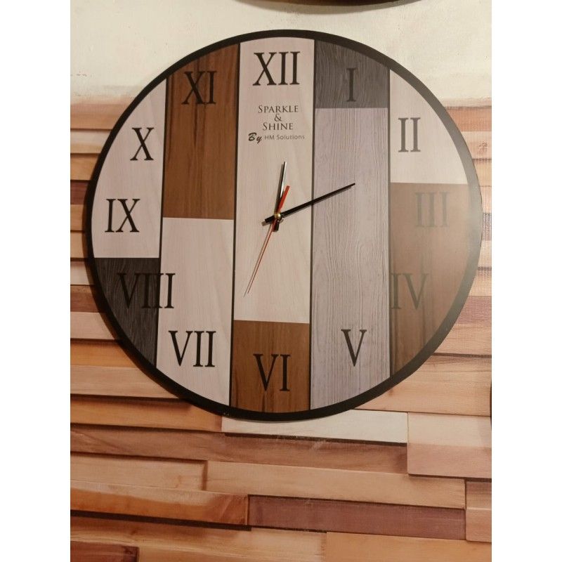 Colorful Wooden Wall Clock TJ-06