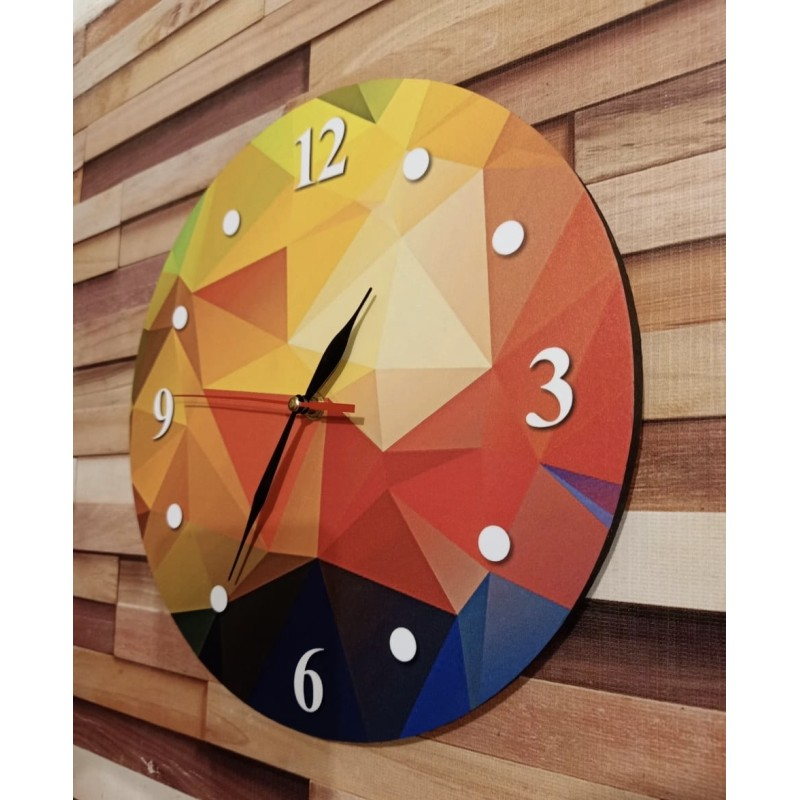 Colorful Wooden Wall Clock TJ-07