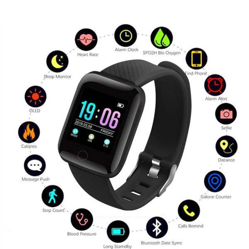 D13 Smart Bands HR Color Screen, Heart Rate Monitor, Waterproof Fitness Tracker with Step Counter Sleep Monitor, Pedometer Smart Watch for Men Women Kids