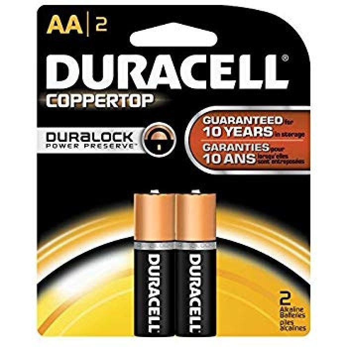 Duracell AA Size Alkaline Battery (Pack of 2)