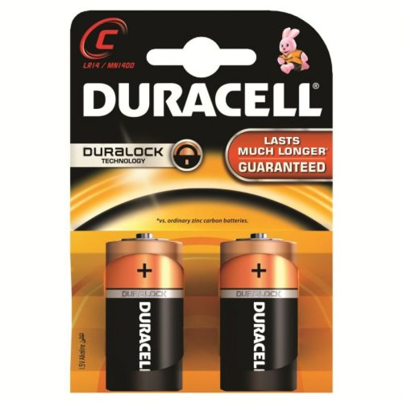 Duracell C Size Alkaline Battery (Pack of 2)
