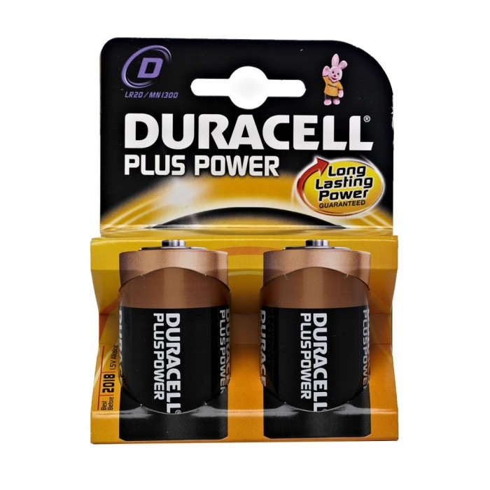 Duracell D Size Alkaline Battery (Pack of 2)