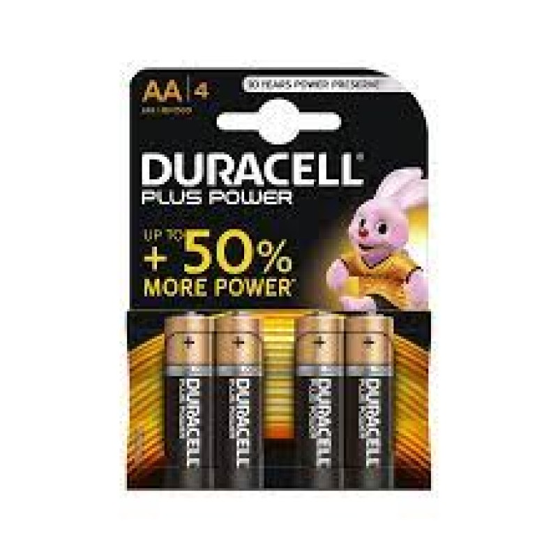 Duracell AA Alkaline Pack Of 4