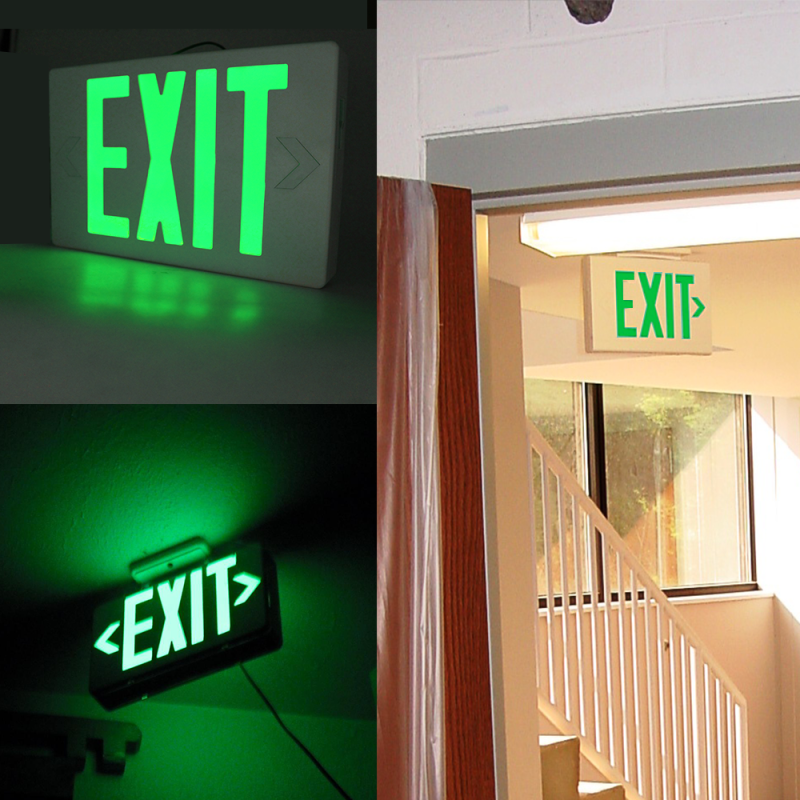 EXIT Sign LED Light Rechargeable