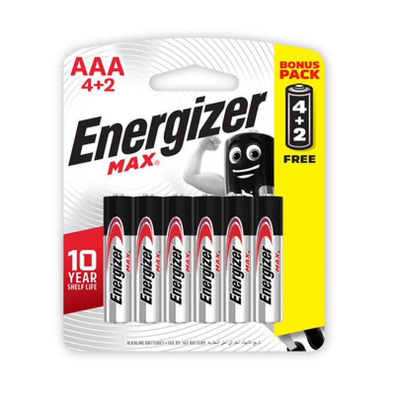 Energizer 4+2 AAA Alkaline Batteries