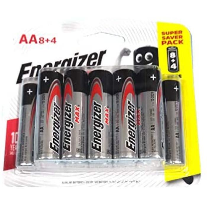 Energizer 8+4 AA Alkaline Batteries