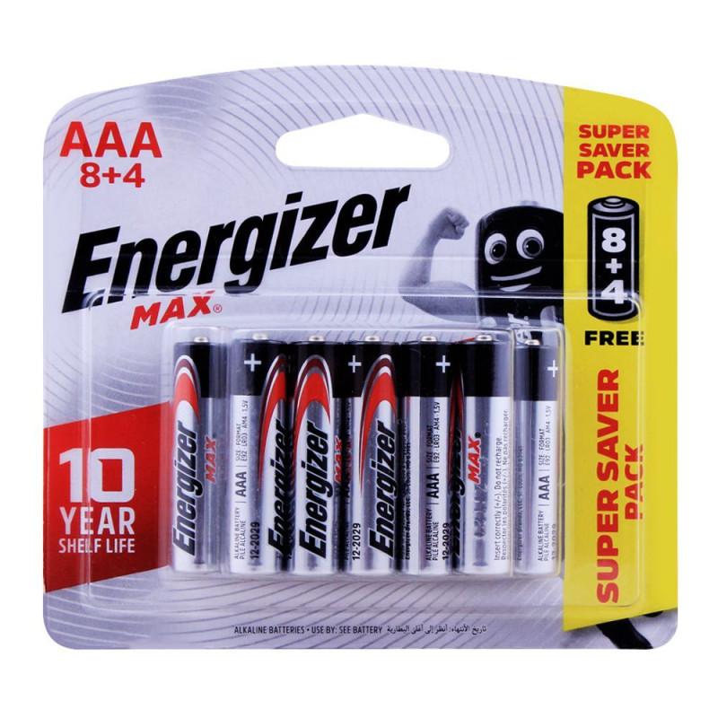 Energizer 8+4 AAA Alkaline Batteries