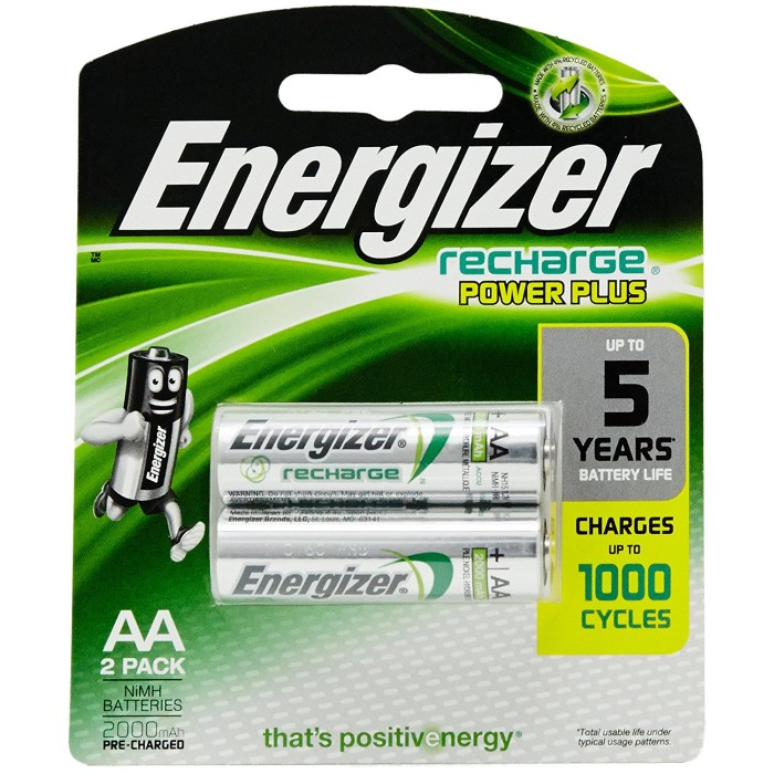 Energizer AA 2300 mAh Rechargeable Batteries (Pack of 2)