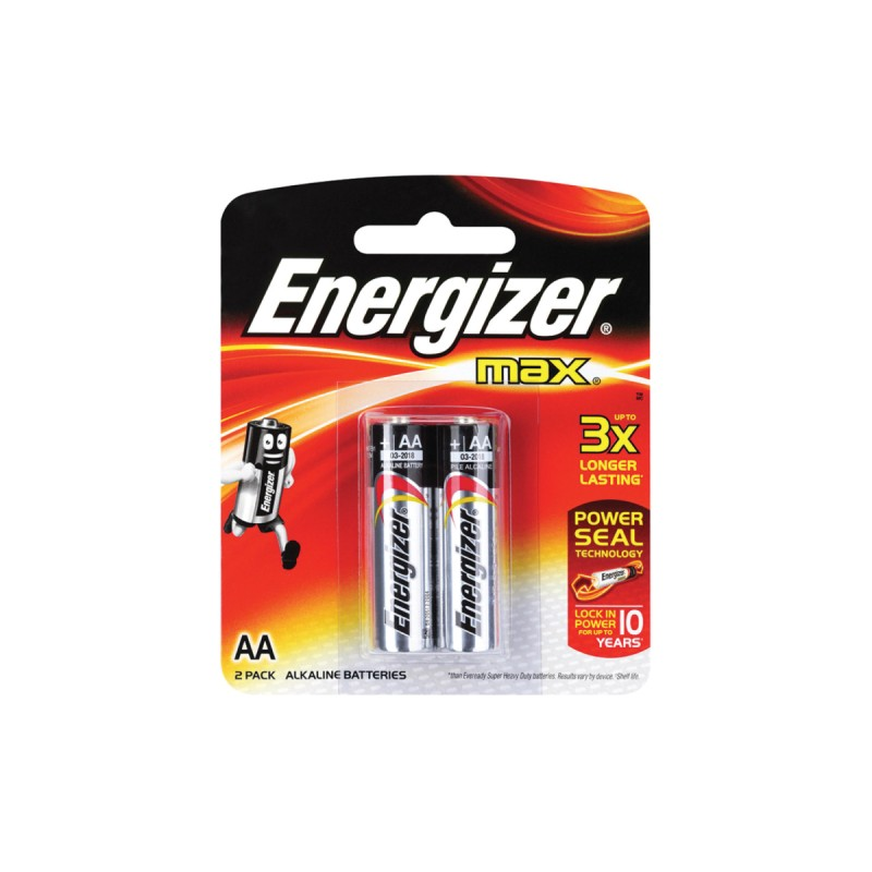Energizer AA Alkaline Battery (Pack of 2)