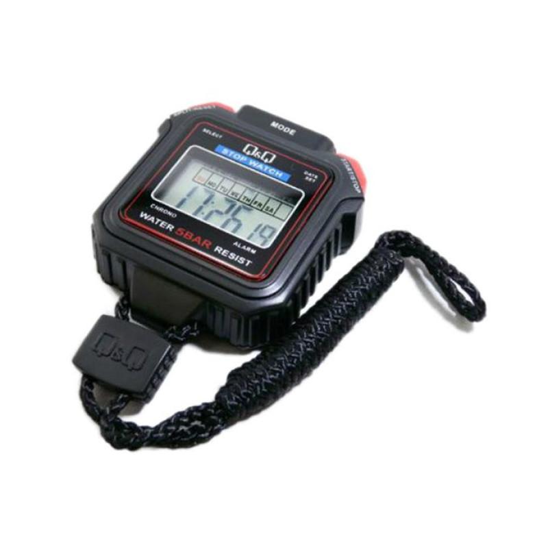 HS43 - Q&Q - Sports Stopwatch - Equipment Timer Measure -Black