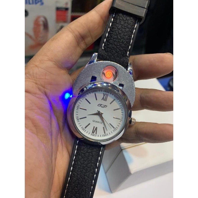 KP Watch with Rechargeable Lighter for Men