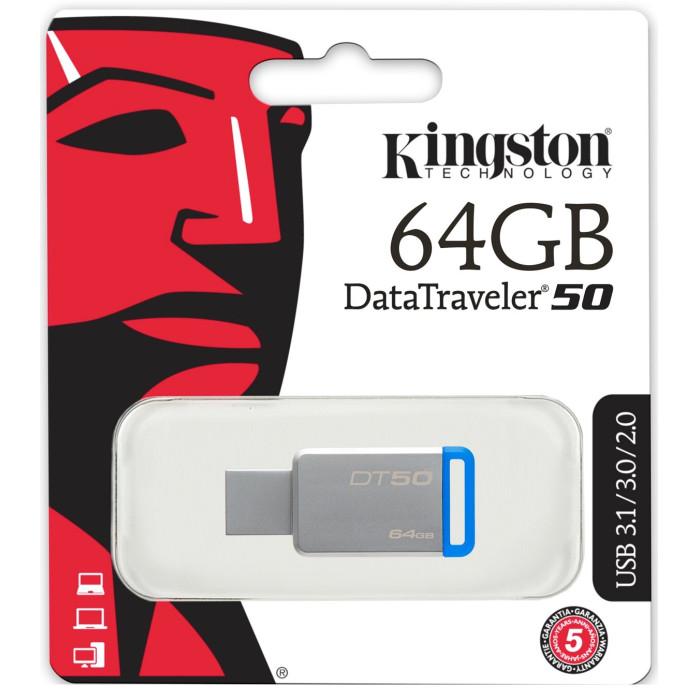 Kingston 64GB Data Traveler 50 3.0 USB Flash Drive