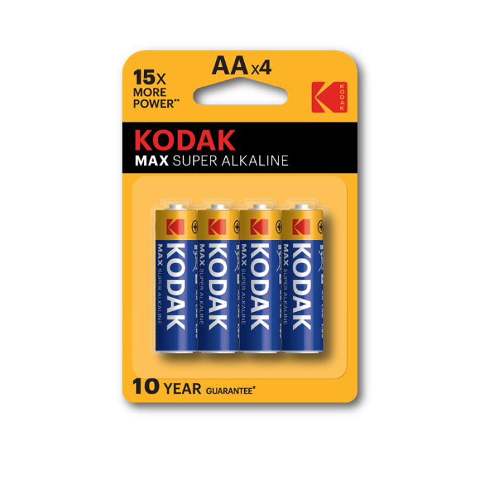 Kodak Max Super Alkaline  AA (Pack of 4)