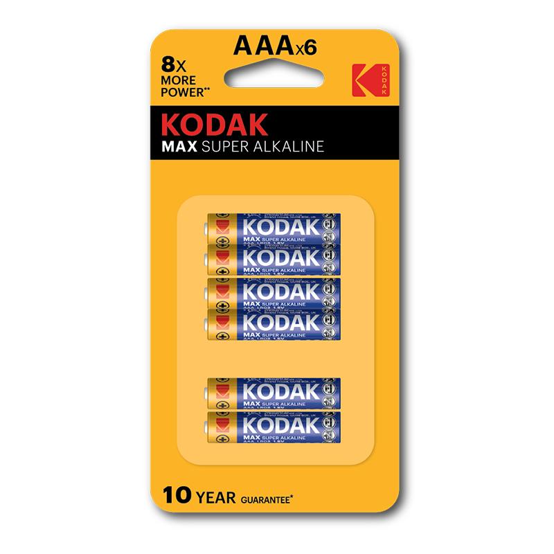 Kodak Max Super Alkaline AAA (Pack of 6)