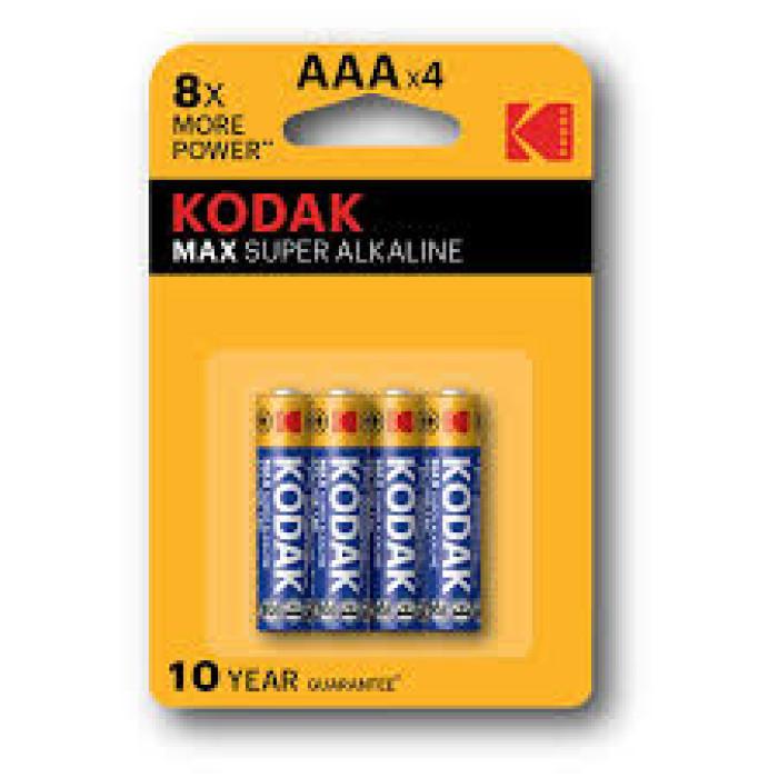 Kodak Max Super Alkaline AAA-4