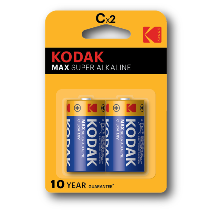 Kodak Max Super Alkaline C (Pack of 2)
