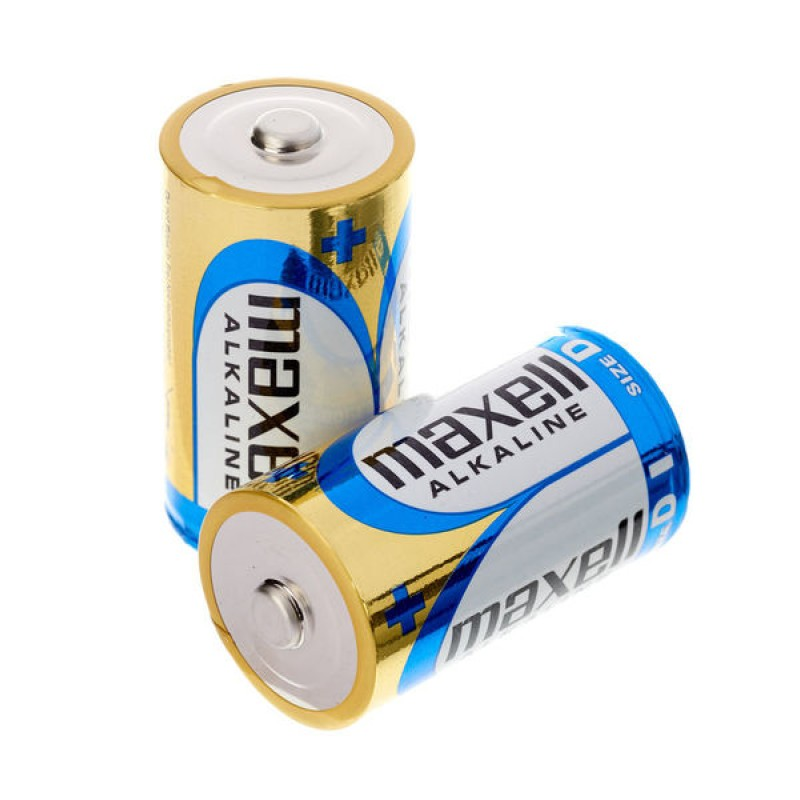 Maxell D-Size Alkaline Battery (Pack of 2)