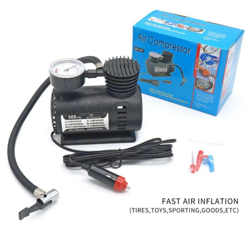 Mini Air Compressor 12V Car Auto Portable Pump