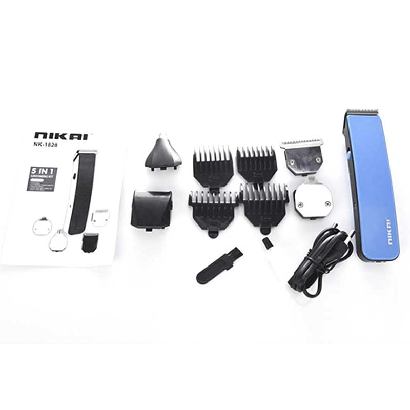 Nikai NK-1828 - 5 in 1 Rechargeable Hair And Beard Trimmer