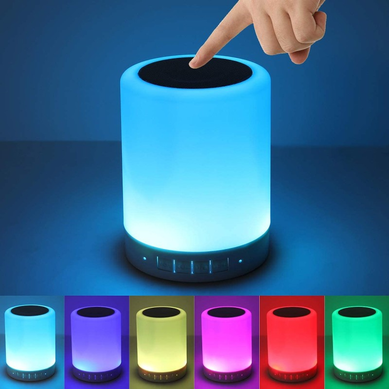 Night Light Bluetooth Speaker, Portable Wireless Bluetooth Speakers, Touch Control Bedside Table Light, Outdoor Speakers Bluetooth, Best Gifts for Girl, Boy, Baby