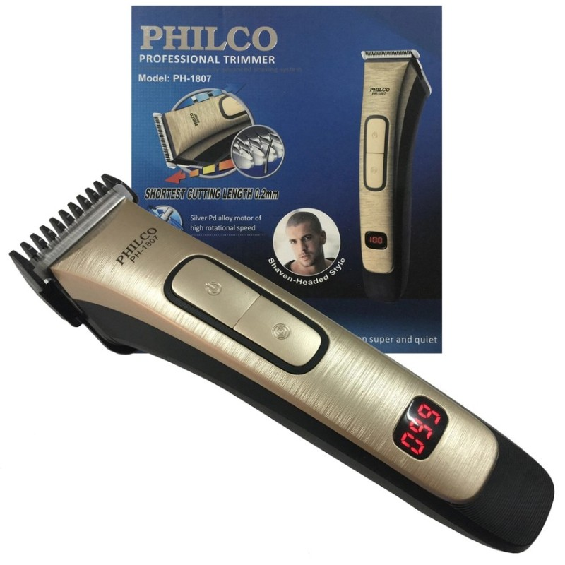 PHILCO Portable Rechargeable Trimmer with Digital Battery Indication
