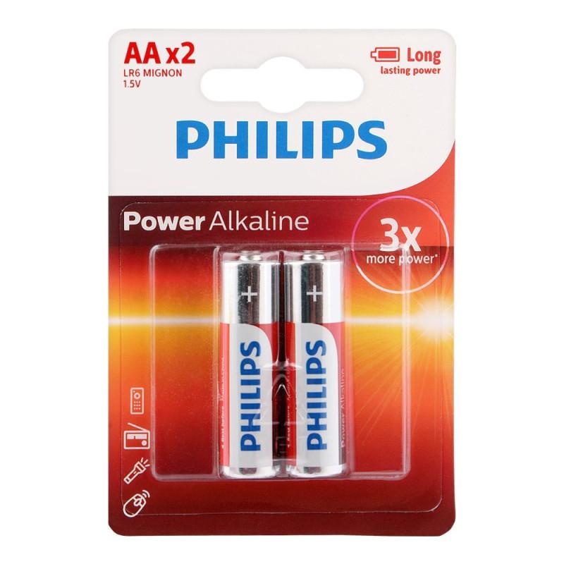 Philips AA Alkaline Pack Of 2