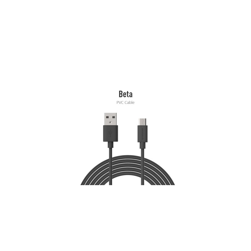 Riversong Beta Micro USB 2.4A, 1 Meter Charging Cable | Black |