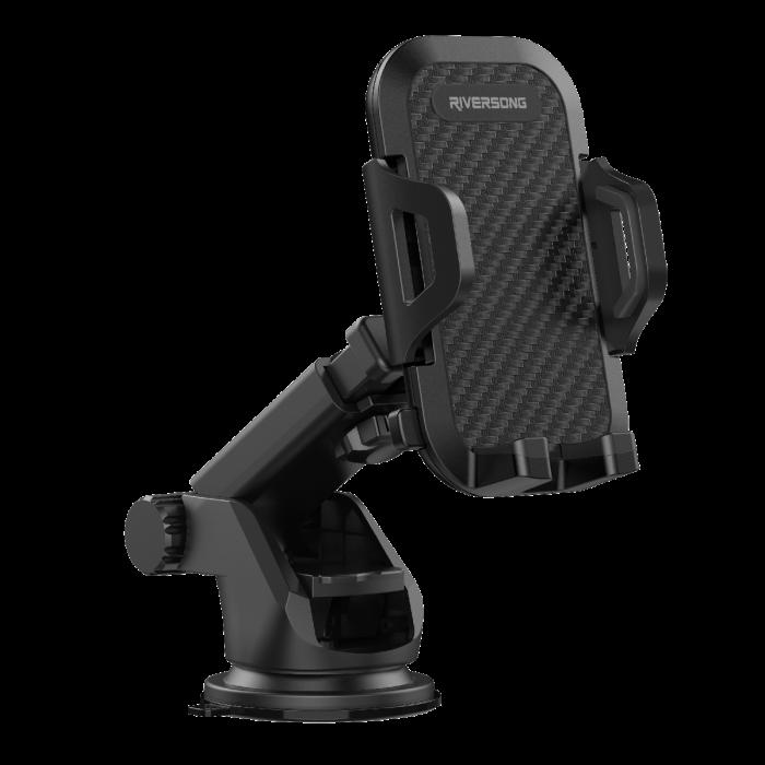 Riversong Flexi Clip Multifunctional Car Phone Mount   Black  
