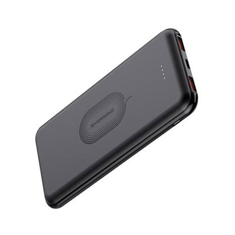 Riversong Gravity 10 Wireless 10,000 mAh 2.1A Power Bank | Black |