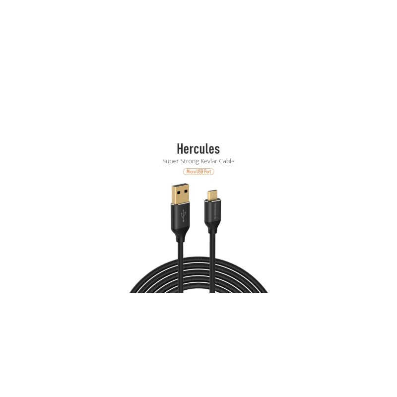 Riversong Hercules Micro USB 2.4A, 1 Meter Charging Cable | Black |
