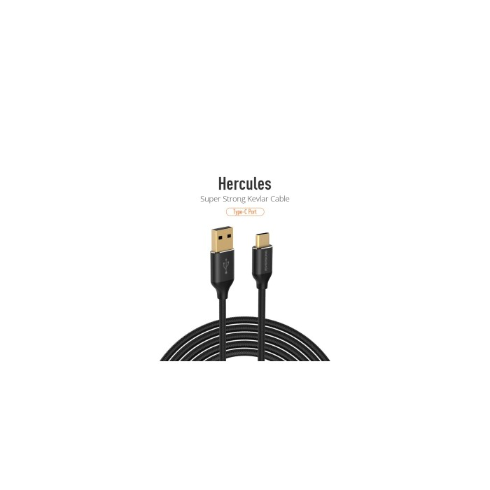 Riversong Hercules TYPE C USB 5A, 1 Meter Charging Cable | Black |